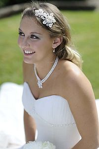 Starlight Jewelled Headdress - wedding jewellery