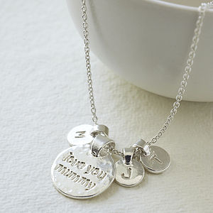 Personalised 'Love You Mummy' Necklace - jewellery for women