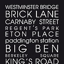 WOW 'Classic London' Personalised Canvas