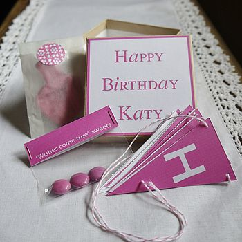Pink Personalised Birthday Box