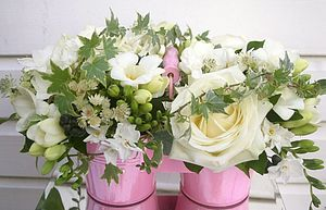 Twin Pot Of Fresh Flowers - fresh flowers