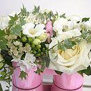 Twin Pot Of Fresh Flowers