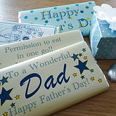 Father's Day Personalised Chocolate Bar - father's day