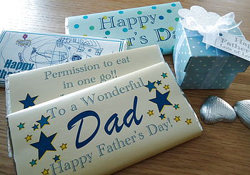Father's Day Personalised Chocolate Bar
