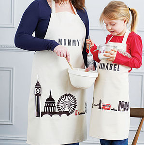 Personalised London Children's Apron - children's cooking