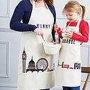Personalised London Print Apron Set