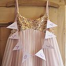 Personalised Bridesmaid Bunting - Lilac