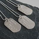 Personalised Solid Silver Identity Dog Tags