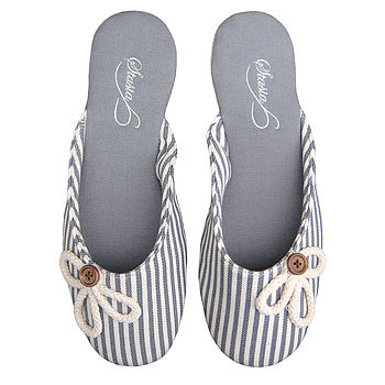 French Grey Mule Slippers RRP £29.99