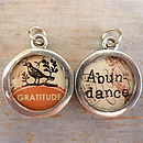 Pewter Word Candy Charms