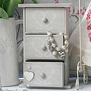 Shabby Chic Heart Jewellery Box