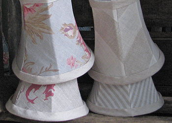 Small Candle Clip Lampshades In Mixed Fabrics