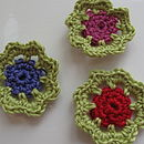 Lime, purple, cerise and red