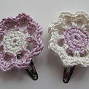 Palepink and cream hairclips