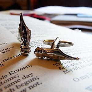 Pen Nib Cufflinks - men's accessories