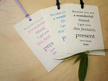 'Because you are' Personalised Gift Tags