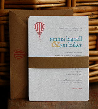 Up And Away Wedding Invitation Set