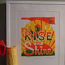 'Rise and Shine' Limited Edition Linoprint