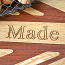 Personalised Wooden Union Jack Chopping Board
