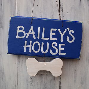 Personalised Pet House Sign