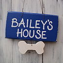 pet sign_royal blue