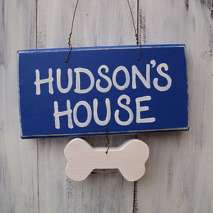 Personalised Pet House Sign - gifts for pets