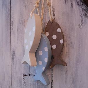 Rustic Hanging Fish Decoration