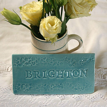 'Brighton' Personalised Table Tile