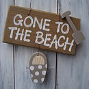 beach sign_brown wash with driftwood spot