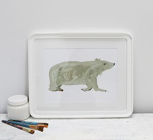 'The Alpha Bear' Signed And Personalised Print