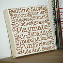 Fathers Day Mini Canvas - Thick Frame
