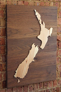 Bespoke Wooden Map - gifts for him