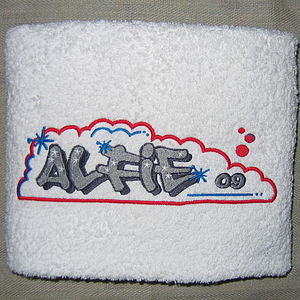 Personalised Graffiti Kids Towel - bed, bath & table linen