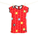 Dotstar T shirt dress tomato