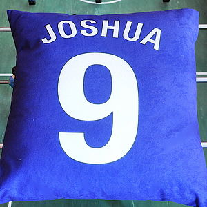 Personalised Football Cushion - children's room
