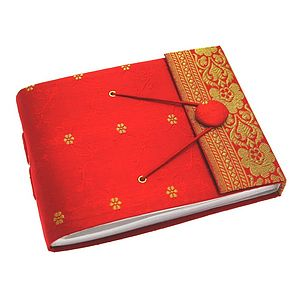 Fair Trade Small Sari Photo Album - albums & guest books