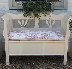 Painted Storage Bench - furniture