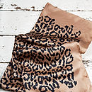 Leopard Print Extra Large Silk Scarf