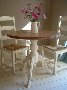 Hand Painted Pedestal Dining Table And Chairs