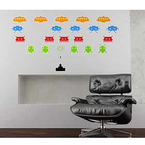Space Invaders Wall Stickers - gifts for geeks
