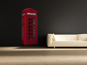 British Phone Box Wall Stickers