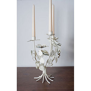 Vintage Candelabra with Corsage Flowers - candlesticks
