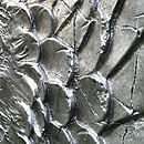 'Angel Wings' Large Silver Antiqued Style