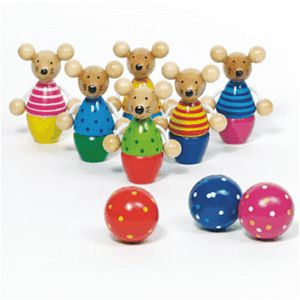 Children's Wooden Mice Skittles - woodland trend