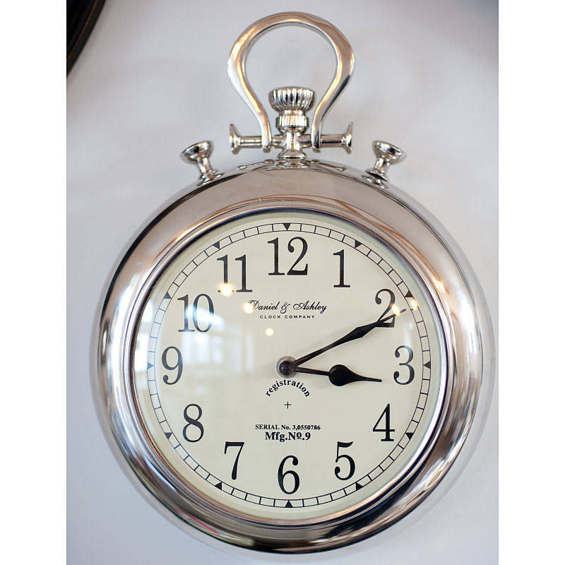 pocket watch wall clock silver pocket wall clock by the orchard 29539