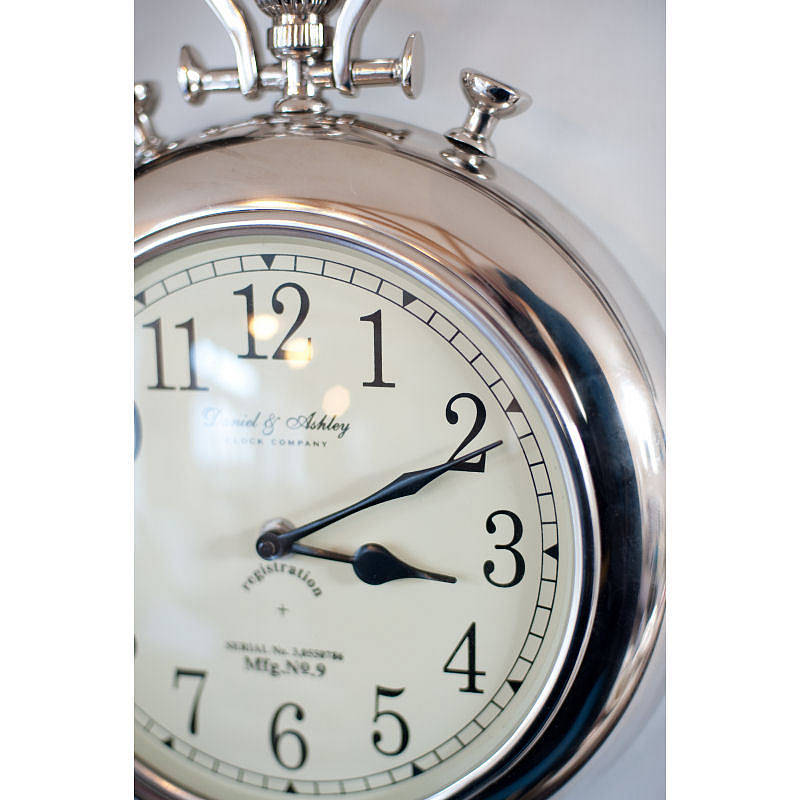 pocket watch wall clock silver pocket wall clock by the orchard 11132