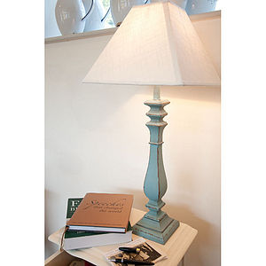 Blue Wash Table Lamp - table & floor lamps