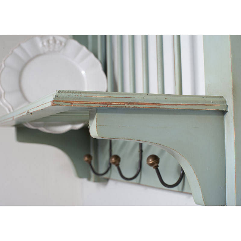 Wooden Painted Plate Rack Wall Unit By The Orchard  sc 1 st  Wooden Designs & Wooden Plate Rack Wall Shelf - Wooden Designs