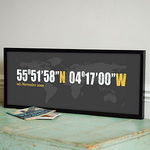 Personalised Urban Coordinates Art Print - personalised art