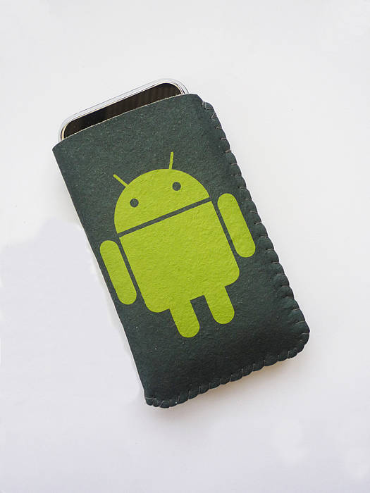 green robot logo phone case by crank notonthehighstreetcom